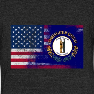 Kentucky American Flag Fusion - Unisex Tri-Blend T-Shirt by American Apparel