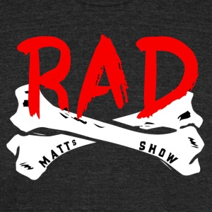 Rad Crossbones - Unisex Tri-Blend T-Shirt by American Apparel