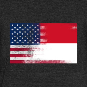 Indonesian American Half Indonesia Half America - Unisex Tri-Blend T-Shirt by American Apparel