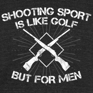Shooting Sport/Shooting Range/Shooter/Sharpshooter - Unisex Tri-Blend T-Shirt by American Apparel