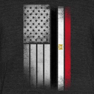 Egyptian American Flag - Unisex Tri-Blend T-Shirt by American Apparel