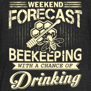 Weekend Forecast Beekeeping T Shirt - Unisex Tri-Blend T-Shirt by American Apparel