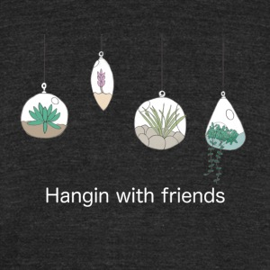 Hangin with friends (white) - Unisex Tri-Blend T-Shirt by American Apparel