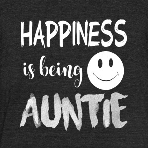 Happiness Is Being Auntie T Shirt - Unisex Tri-Blend T-Shirt by American Apparel