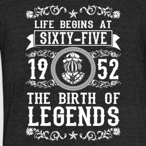 1952 - 65 years - Legends - 2017 - Unisex Tri-Blend T-Shirt by American Apparel
