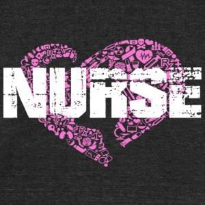 I love Nurse - Unisex Tri-Blend T-Shirt by American Apparel
