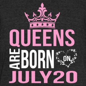 Queens are born on July 20 - Unisex Tri-Blend T-Shirt by American Apparel