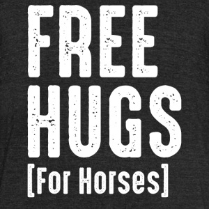 Free Hug For Horses - Unisex Tri-Blend T-Shirt by American Apparel
