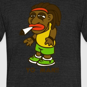 rasta reggae afro boy - Unisex Tri-Blend T-Shirt by American Apparel
