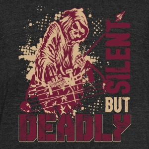 Bowhunting Silent But Deadly Shirt - Unisex Tri-Blend T-Shirt by American Apparel