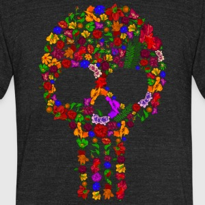 Floral Sugar Skull - Unisex Tri-Blend T-Shirt by American Apparel