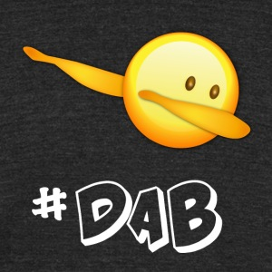 dab dabbing emoticon emo best football - Unisex Tri-Blend T-Shirt by American Apparel
