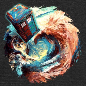 time travel phone box jump into dark vortex - Unisex Tri-Blend T-Shirt by American Apparel