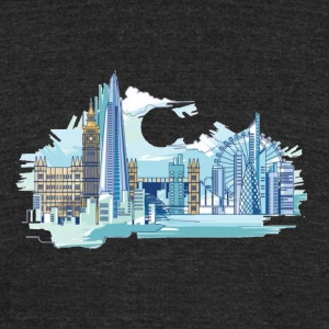 London Tee Shirt - Unisex Tri-Blend T-Shirt by American Apparel