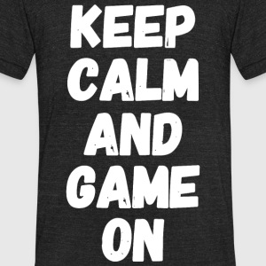 Game - Keep Calm and Game On - Unisex Tri-Blend T-Shirt by American Apparel