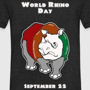 Rhino - World Rhino Day - Unisex Tri-Blend T-Shirt by American Apparel