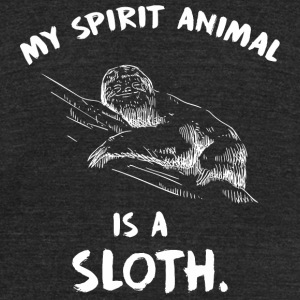 Sloth - My Spirit animal is a sloth - Unisex Tri-Blend T-Shirt by American Apparel