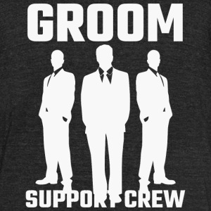 Attendant - Groom Support Crew - Unisex Tri-Blend T-Shirt by American Apparel