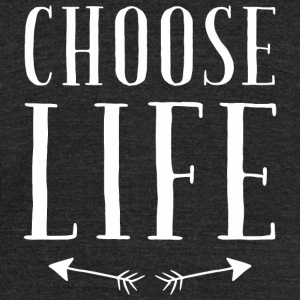 Life - Choose Life Vintage Retro 80s - Unisex Tri-Blend T-Shirt by American Apparel