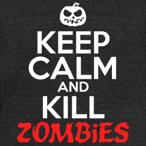 Zombie - Keep Calm And Kill Zombies - Unisex Tri-Blend T-Shirt by American Apparel