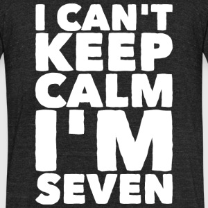 Seven - I Can't Keep Calm I'm Seven 7 - Unisex Tri-Blend T-Shirt by American Apparel