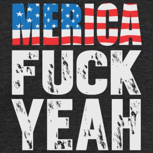 Merica - Merica - Fuck Yeah! - Unisex Tri-Blend T-Shirt by American Apparel