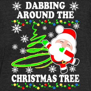 Christmas - Dabbing Around The Christmas Tree Sh - Unisex Tri-Blend T-Shirt by American Apparel