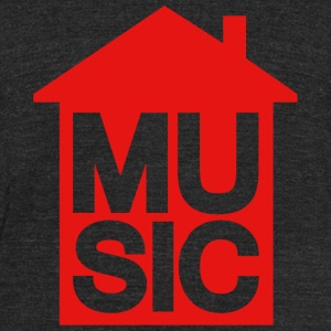 House Music - House Music - Unisex Tri-Blend T-Shirt by American Apparel