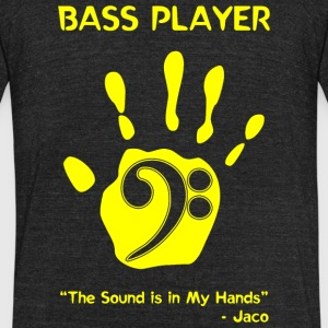 Bass Player - Bass Player -- - Unisex Tri-Blend T-Shirt by American Apparel