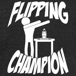 Dab - Bottle Flipping Dabbing Dab Champion - Unisex Tri-Blend T-Shirt by American Apparel