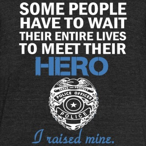 Police officer - Hero - Unisex Tri-Blend T-Shirt by American Apparel