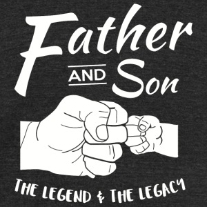 Father and Son - Father and Son Matching outfits - Unisex Tri-Blend T-Shirt by American Apparel