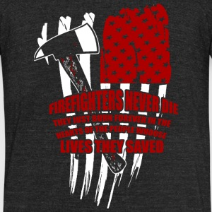 Firefighter - Firefighter - Unisex Tri-Blend T-Shirt by American Apparel