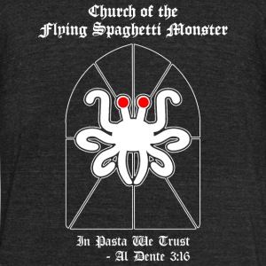 Spaghetti - Flying Spaghetti Monster -- Al Dente - Unisex Tri-Blend T-Shirt by American Apparel