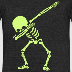 Skeleton - Dabbing Skeleton Dab Hip Hop Skull D - Unisex Tri-Blend T-Shirt by American Apparel