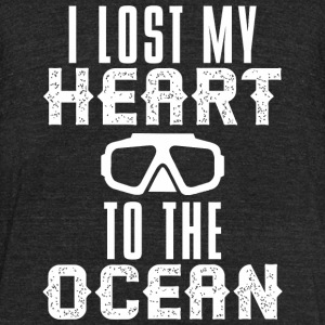 Scuba diving - Lost HEART to the OCEAN Scuba Div - Unisex Tri-Blend T-Shirt by American Apparel