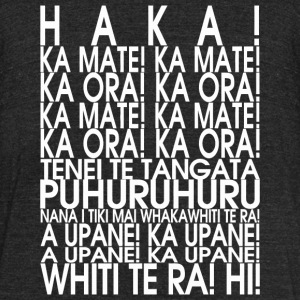 New dad - NEW ZEALAND MAORI HAKA T SHIRT Rugby T - Unisex Tri-Blend T-Shirt by American Apparel