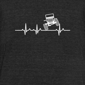 Jeep driver - The jeep is in my heartbeat - Unisex Tri-Blend T-Shirt by American Apparel