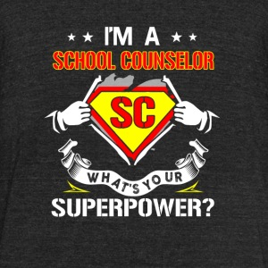 I'm a school counselor - What's your superpower - Unisex Tri-Blend T-Shirt by American Apparel