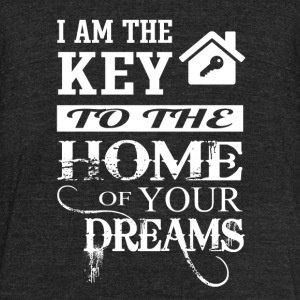 Realtor - I am the key to the home of your dream - Unisex Tri-Blend T-Shirt by American Apparel