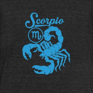 Scorpio - Blue Scorpio awesome t-shirt - Unisex Tri-Blend T-Shirt by American Apparel