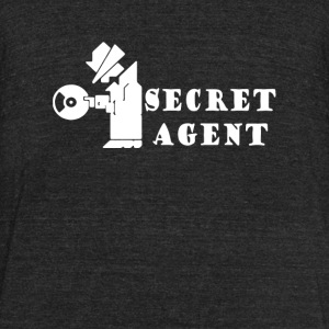 Secret - secret agent - Unisex Tri-Blend T-Shirt by American Apparel