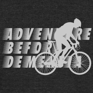 Biker - Adventure Before Dementia T-Shirt For Bi - Unisex Tri-Blend T-Shirt by American Apparel