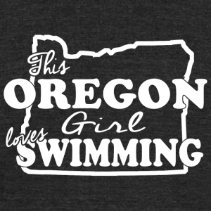 Swimming - this oregon girl loves swimming - Unisex Tri-Blend T-Shirt by American Apparel