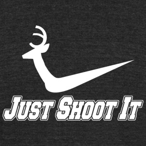 SHOOT - JUST SHOOT IT - Unisex Tri-Blend T-Shirt by American Apparel