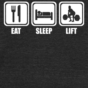 Lift - Eat Sleep Lift - Unisex Tri-Blend T-Shirt by American Apparel