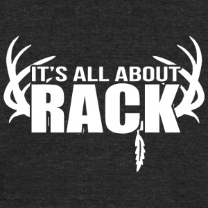Rack - It's All About Rack - Unisex Tri-Blend T-Shirt by American Apparel