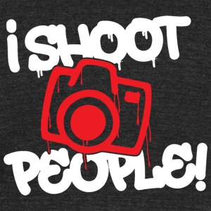 Photographer - I shoot people - Unisex Tri-Blend T-Shirt by American Apparel