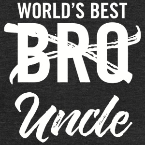 Uncle - Mens World's Best Bro Uncle, Funny Pregn - Unisex Tri-Blend T-Shirt by American Apparel