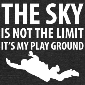 Skydiving - The Sky is Not the Limit Skydiving - Unisex Tri-Blend T-Shirt by American Apparel